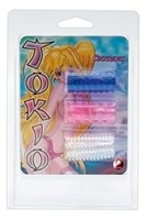 Комплект из трех рельефных насадок на пенис Tokyo Sleeves - фото 1153132