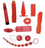 Набор красных вибростимуляторов - фото 142070