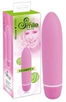 Розовый вибратор Smile Mini Comfy - 13 см. - фото 1657154