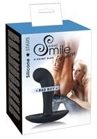 Чёрный анальный массажер простаты Smile Bad Boy - 13 см. - фото 1251643