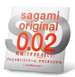 Ультратонкий презерватив Sagami Original 0.02 - 1 шт. - фото 1153721