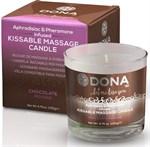 Массажная свеча DONA Chocolate Mousse с ароматом шоколадного мусса - 135 гр. - фото 217896