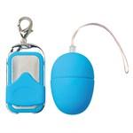 Голубое виброяйцо с пультом ДУ VIBRATING EGG PLEASURE SHIVER SMALL  - фото 247473