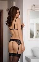 Сексуальный кружевной комплект Eliza из трёх предметов - фото 1657663