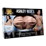 Полноразмерная вагина и анус Wildfire Celebrity Series Ashley Blues CyberSkin Spread Wide Pussy   Ass - фото 254699