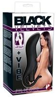 Черная анальная вибровтулка Black Velvet - 13 см. - фото 1317586