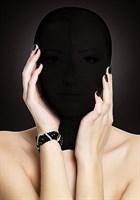 Закрытая черная маска на лицо Subjugation - фото 222301