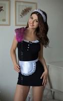Платье горничной Jane с фартуком и кружевной повязкой на голову - фото 1154769