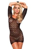 Ажурное платьице с зигзагообразным узором Zig Zag Leg Avenue - фото 563440
