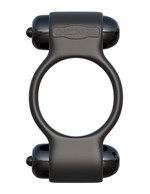 Эрекционное с двумя виброэлементами кольцо Magic Touch Couples Ring - фото 1658617