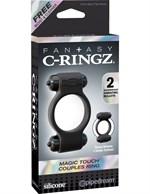 Эрекционное с двумя виброэлементами кольцо Magic Touch Couples Ring - фото 1658622