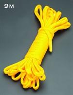 Желтая веревка для связывания - 9 м. - фото 1658657