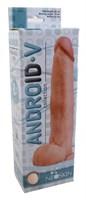 Фаллоимитатор с мошонкой на присоске ANDROID Collection-V - 22 см. - фото 190031