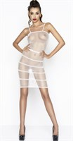 Эффектное платье-сетка с горизонтальными полосами - фото 460575