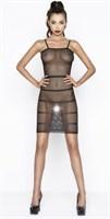 Эффектное платье-сетка с горизонтальными полосами - фото 460574