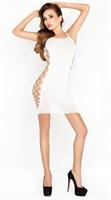 Сексуальное облегающее платье с сетевыми вставками по бокам - фото 1658910