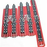 Набор кожаных БДСМ-аксессуаров - фото 1659131