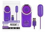 Фиолетовое виброяичко с 10 режимами вибрации - фото 502631