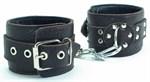 Кожаные наручники на металлической цепочке - фото 1156032