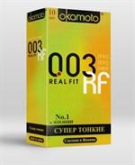 Сверхтонкие плотно облегающие презервативы Okamoto 003 Real Fit - 10 шт. - фото 219934