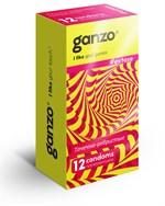 Презервативы анатомической формы с точечной и ребристой структурой Ganzo Extase - 12 шт. - фото 1141523