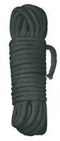 Черная веревка для бандажа - 10 м. - фото 256871