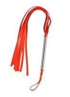 Красная плеть с металлической ручкой  - фото 1299948