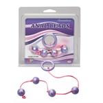 Фиолетовые анальные шарики GOOD VIBES ANAL BEADS SMALL - фото 1156269