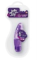 Фиолетовый вибромассажёр JELLY JOY 6INCH 10 RHYTHMS - 15 см. - фото 145196