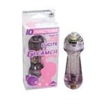 Фиолетовый мини-вибратор с блёстками Gleamer - 11,5 см. - фото 145301