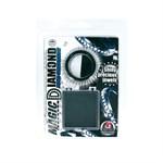 Чёрное эрекционное кольцо со стразами MAGIC DIAMOND - фото 1156595