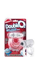 Прозрачное эрекционное кольцо с шишечками и подхватом мошонки DOUBLE O 6 CLEAR - фото 1156665