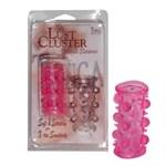 Эластичная розовая насадка с шипами и шишечками JELLY JOY LUST CLUSTER PINK - фото 461745