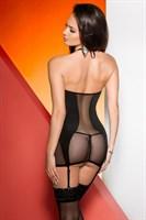 Сорочка с полупрозрачными вставками и сборкой на груди Arietta - фото 462043