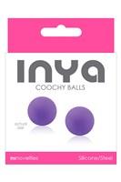 Фиолетовые вагинальные шарики без сцепки  INYA Coochy Balls Purple - фото 221234