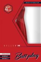 Красный анальный стимулятор Bottom Line 4  Model 3 Acrylic Red - 10,5 см. - фото 1281407