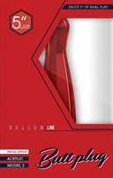 Красный анальный стимулятор Bottom Line 5  Model 3 Acrylic Red - 13 см. - фото 537595