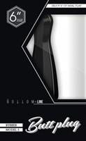 Чёрный анальный стимулятор Bottom Line 6  Model 3 Rubber Black - 15,5 см. - фото 1157648