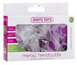 Фиолетовые металлические  наручники SHOTS TOYS Purple - фото 1281458
