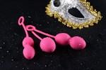 Набор розовых вагинальных шариков Nova Ball со смещенным центром тяжести - фото 1157962