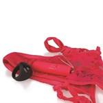 Красные вибротрусики Remote Control Panty Vibe  - фото 1158105