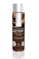 Лубрикант на водной основе с ароматом шоколада JO Flavored Chocolate Delight - 120 мл. - фото 1211894
