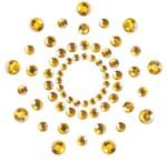 Золотистые наклейки на грудь Mimi Bijoux - фото 193444