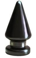 Чёрный анальный плаг MAGNUM - 10 см. - фото 147746