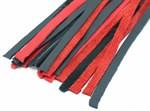 Черно-красная плеть с красной ручкой  Турецкие головы  - 57 см. - фото 1159268