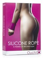 Розовая силиконовая лента для бандажа - 5 м.  - фото 1159299