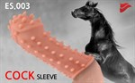 Насадка на фаллос с шипами и бугорками Extreme Sleeve 003 M-size - 14,7 см. - фото 312348