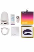 Фиолетовый вибромассажер для пар We-Vibe Sync Purple на радиоуправлении - фото 148765