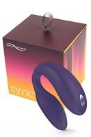 Фиолетовый вибромассажер для пар We-Vibe Sync Purple на радиоуправлении - фото 148764