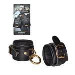 Кожаные наручники с круглым карабином Sitabella Gold Collection - фото 223920